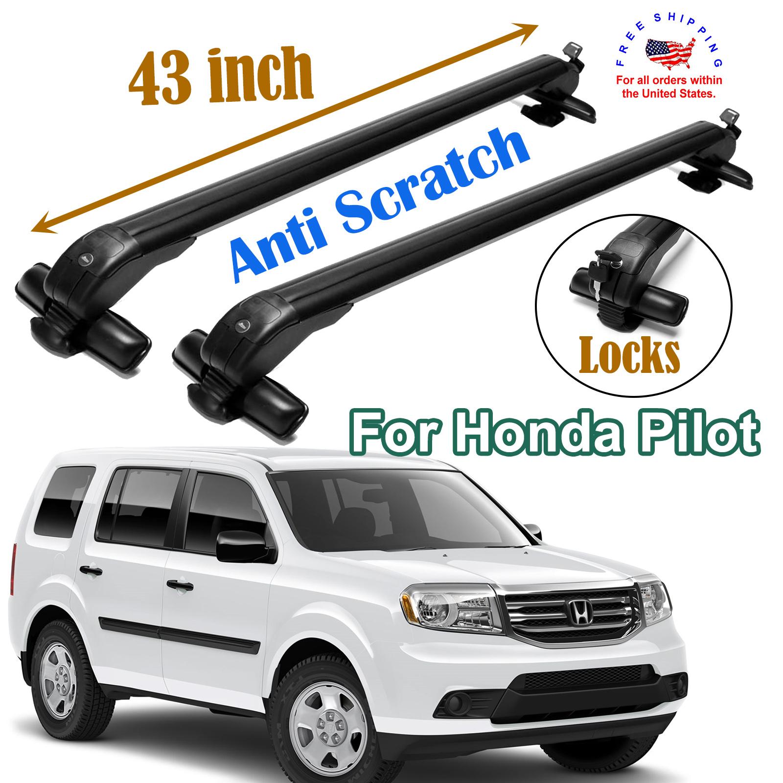 Aluminum Car Top Luggage Roof Rack Cross Bar Carrier Adjustable 82-92cm w// Locks