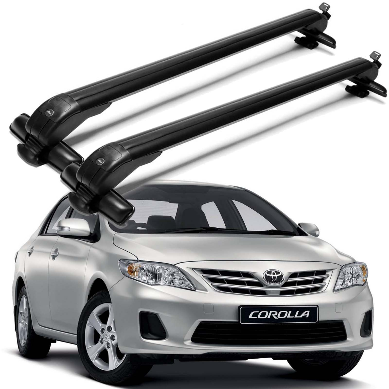 Details About Car Roof Rack For Toyota Corolla 1998 2016 Cross Bar Top Luggage Carrier 2pcs