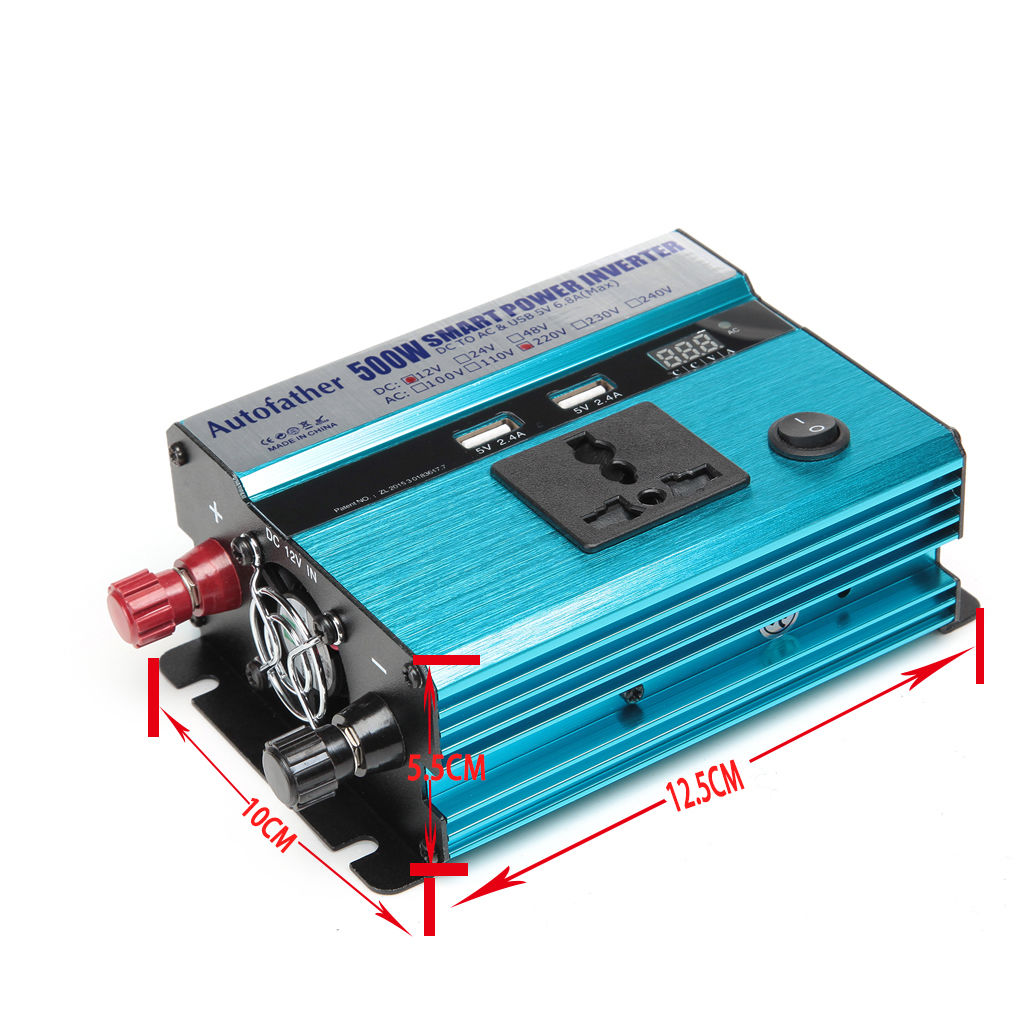 Power Inverter Dc 12v To Ac 220v Charger Converter Sturdy Durable Circuit With Built In Electronic Vehicle Switch