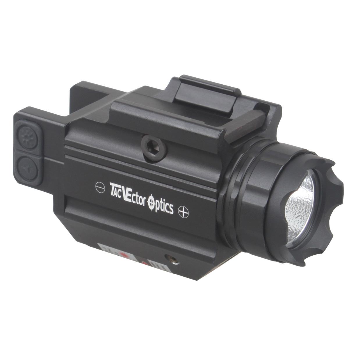 Doublecross Hunting Pistol Gun Handgun Tactical Red Laser Flashlight Combo Light