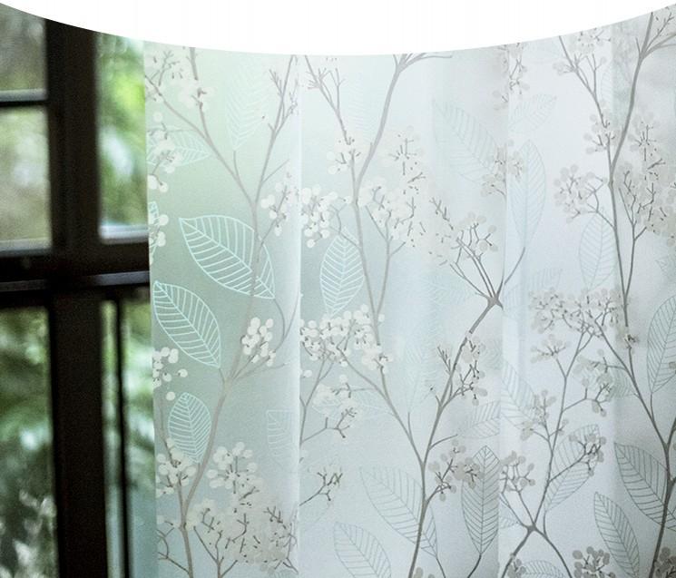 Holly Waterproof Mildew Proof Thicken Bathroom EVA Shower Curtain+Free 12 Hooks