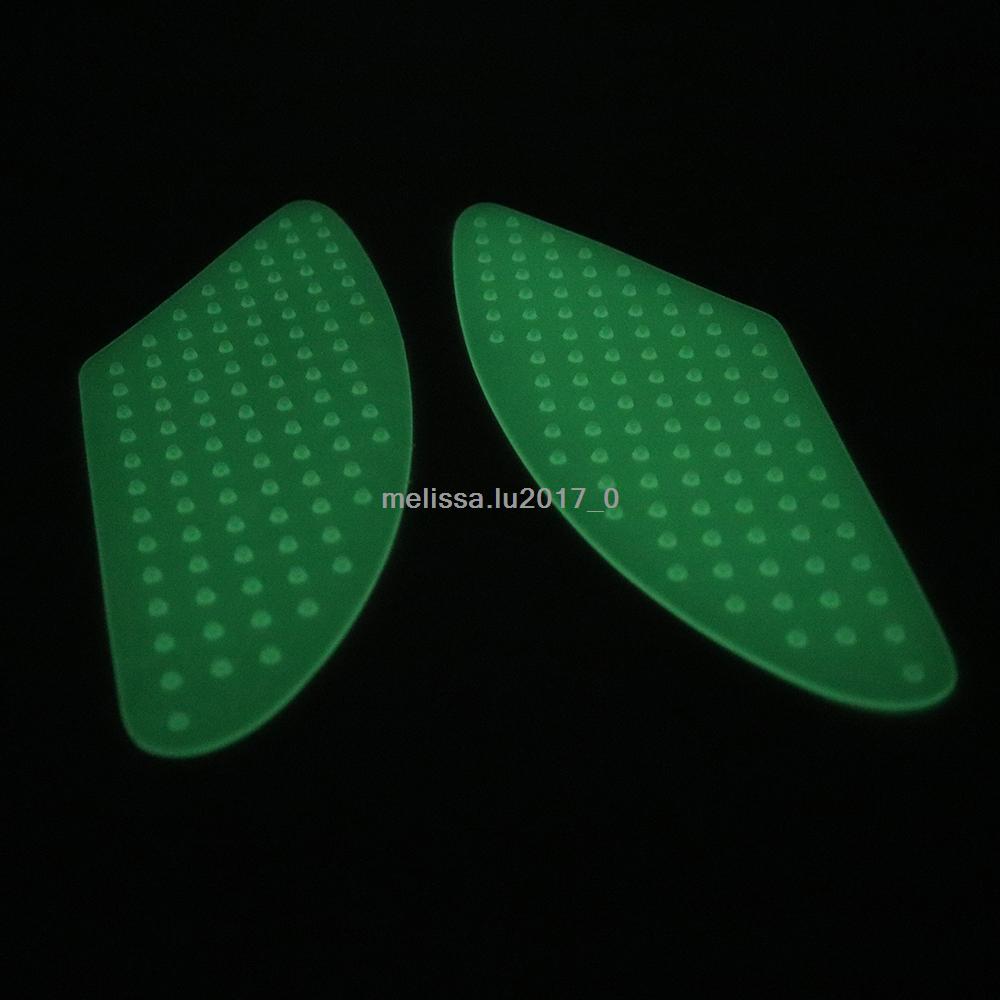 Luminous Traction Side Tank Pad Gas Knee Grip For YAMAHA YZF R1 R6 08-12 FZ1 FZ8