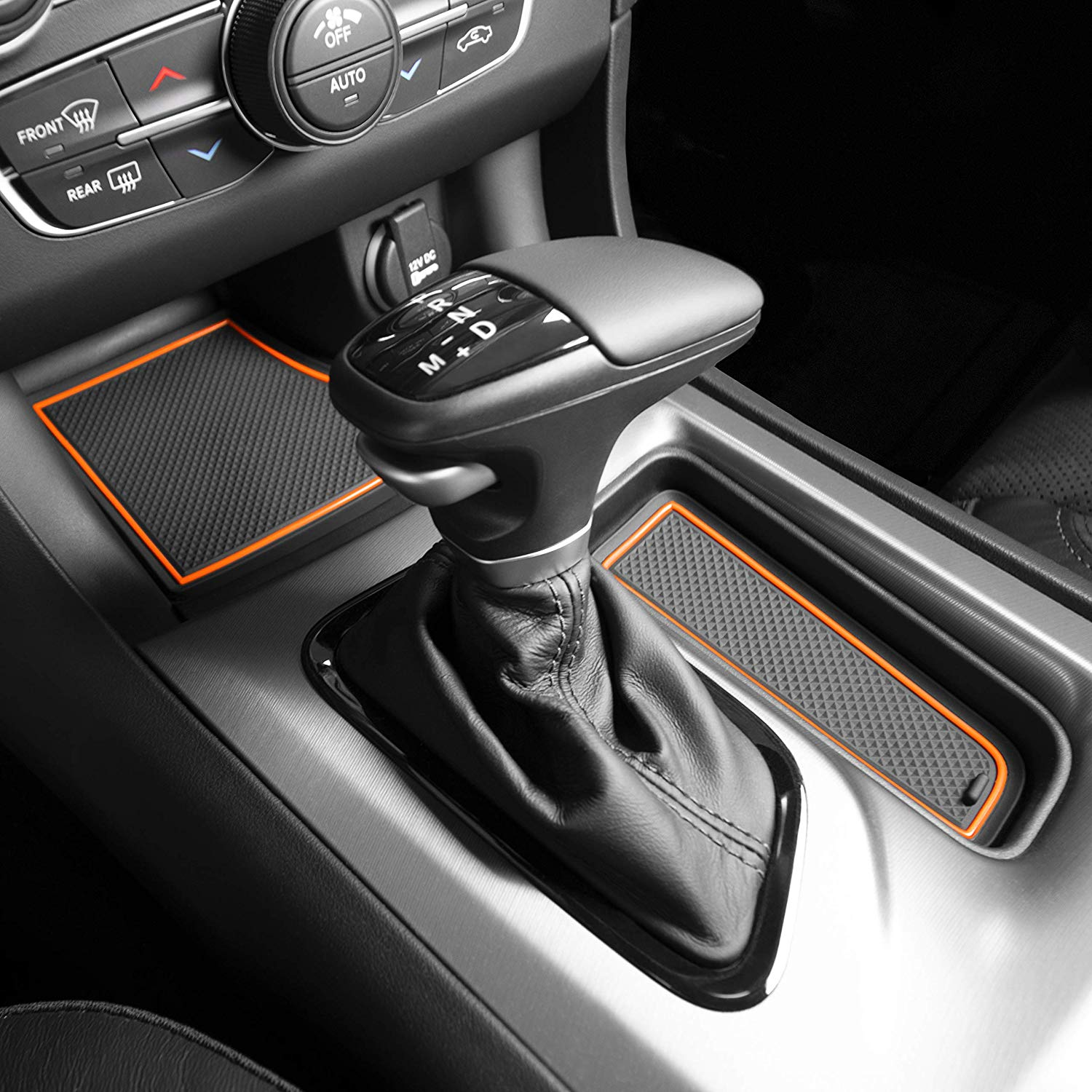 and Console Liner Acessories for 2019 2020 Subaru Forester Orange Trim Custom Fit Cup Door
