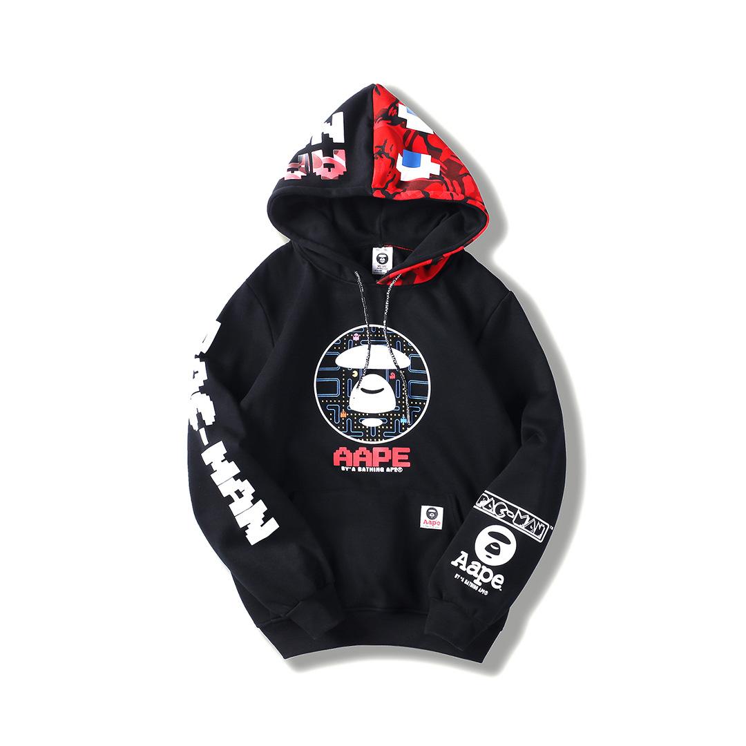 859d77432886 Details about BAPE Pac-Man Mosaic Sweatshirt A Bathing Ape Pullover Hooded Coat  Aape Sweats