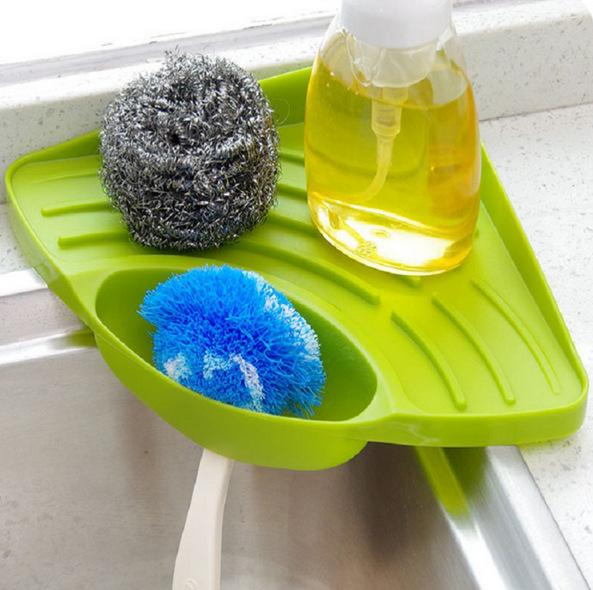 Triangle Kitchen Sink Organizer Sink Caddy Sponge Sink Tray Soap Holder Sink
