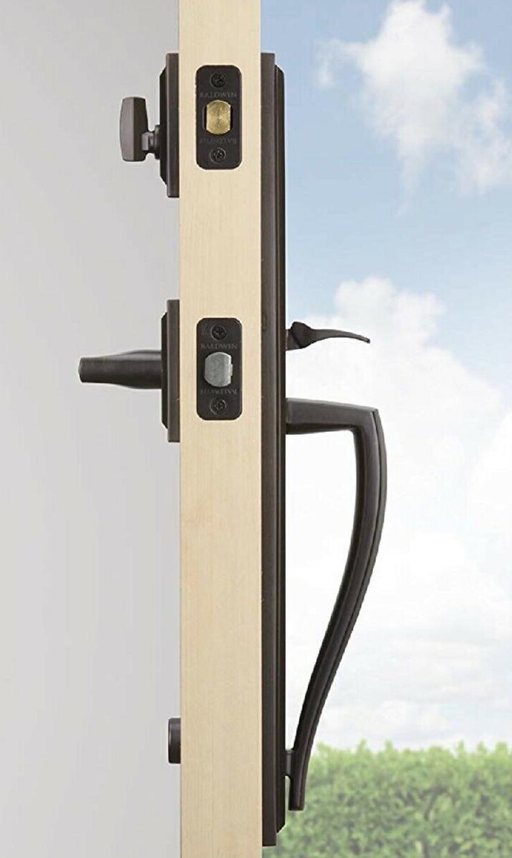 Large Black wrought iron entrance door handles 1Pair 2handles Brand New 2sizes