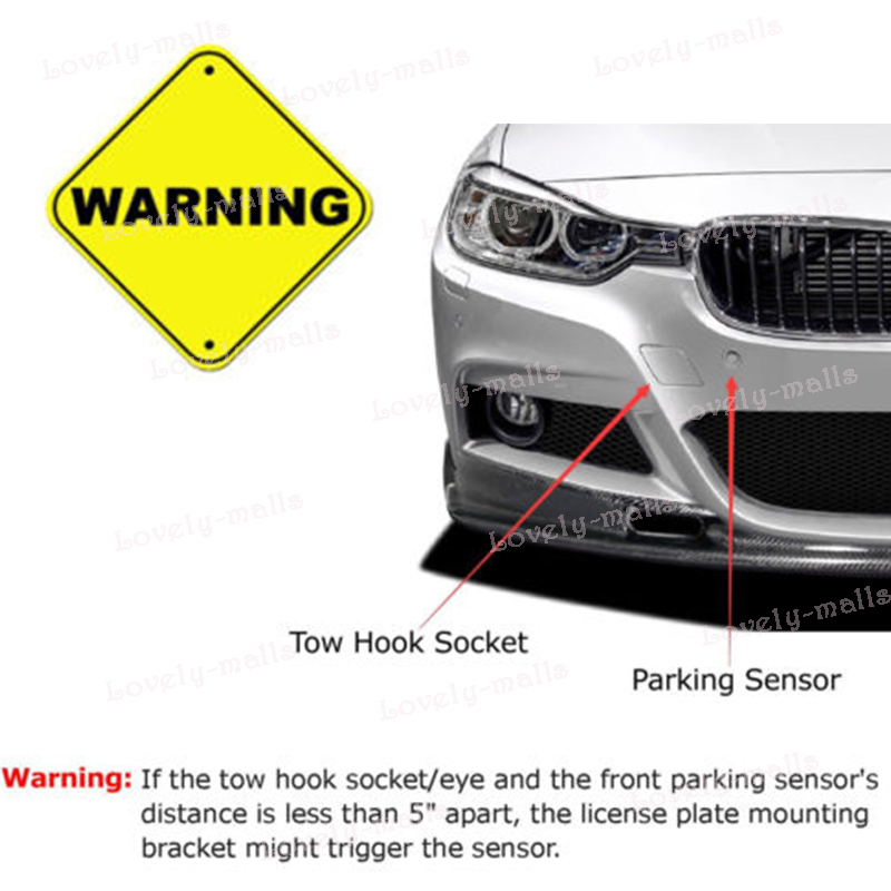 Bumper Tow Hook License Plate Mount Bracket Holder FIT Scion FRS ...