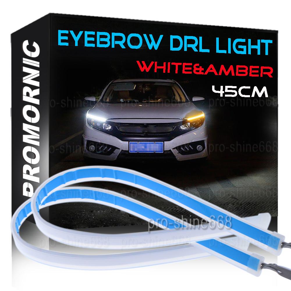 "2X 12/"" White 12 SMD LED Strip Fog DRL Xenon Flexible Interior Trunk Lights"