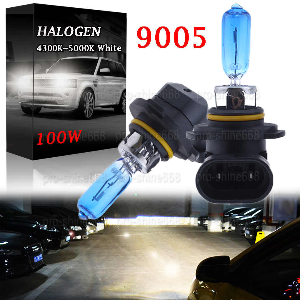 2 Bulbs Cree LED Headlight 9005 HB3 6000K High Beam or Fog DRL Bulbs White 1900W