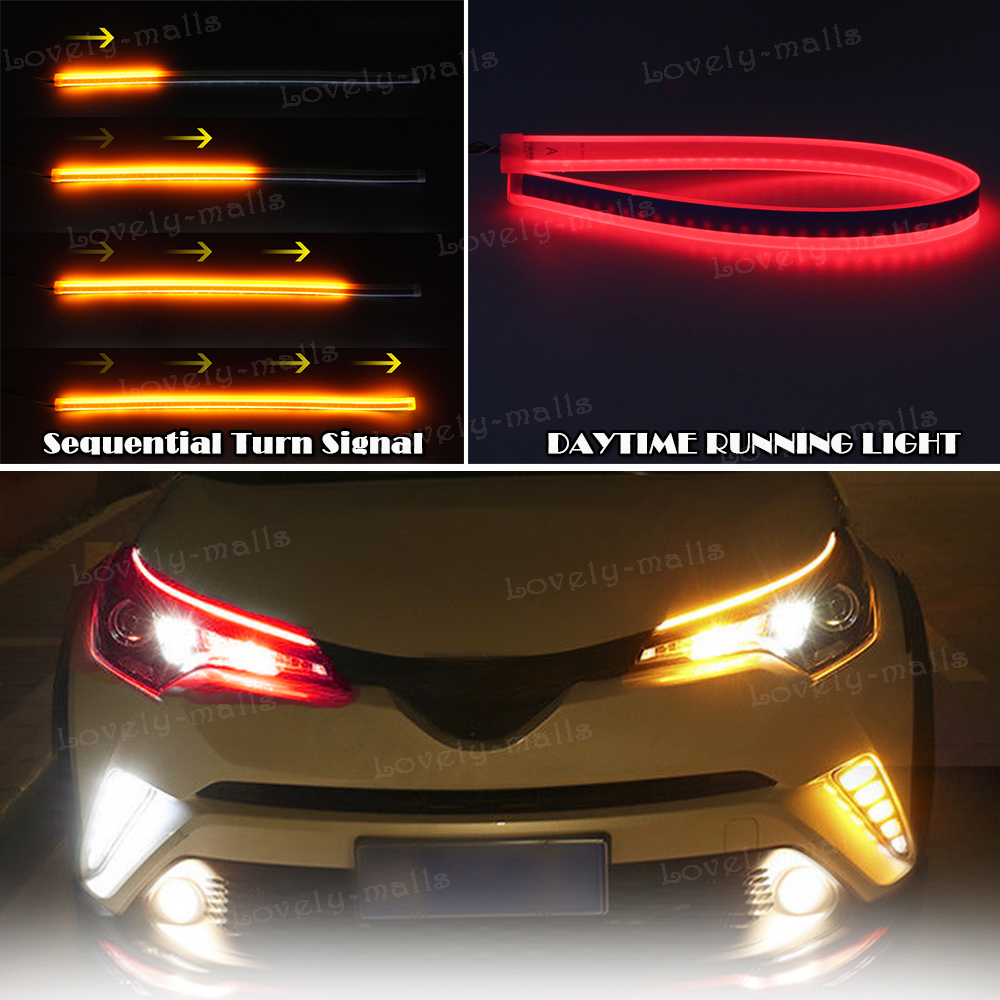 45cm Red Amber Yellow Switchback Led Knight Rider Strip