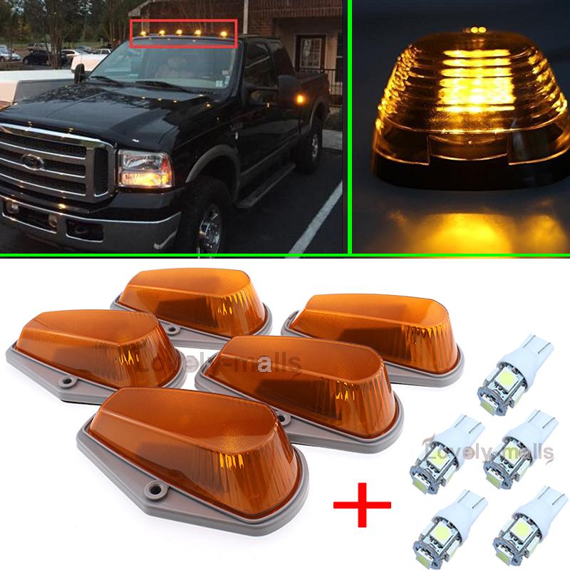 1x Roof 15442 Light Marker Amber Lens+Base Housing For 80-97 Ford F-150//250//350