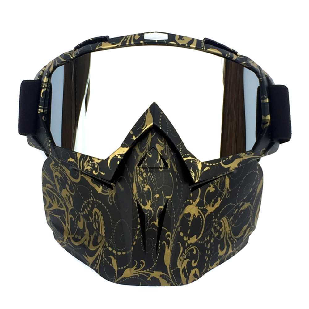 Military Airsoft Paintball Outdoor CS Game Gas Tactical Mask HD Visual Goggles