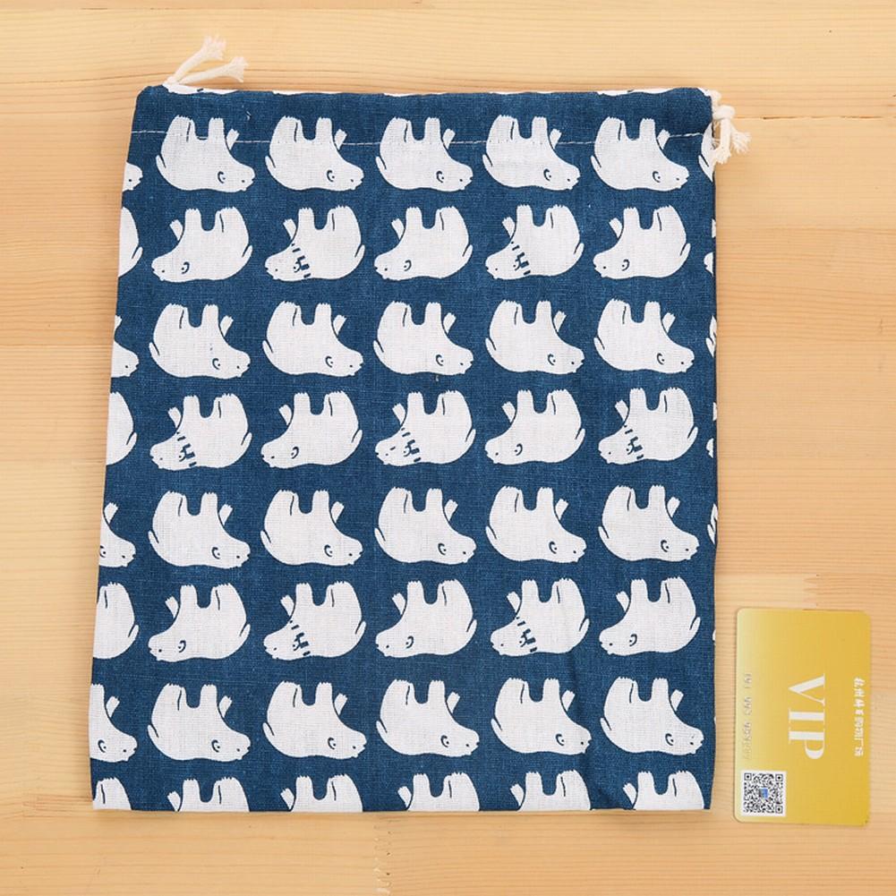 Cute Cotton Drawstring Bag Back Pack Sack Gym Tote School Sport Panda Shoe Pouch