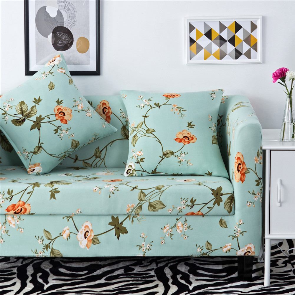 L Shaped 1 2 3 4 Seat Elastic Slipcover Sofa Cover Couch Furniture  ~ Turquoise Slipcover Sofa