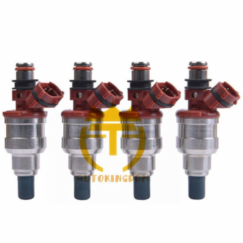 4 Pcs Fuel Injectors For 89-95 Toyota 4Runner Pickup T100 22RE 2.4L 23250-35040