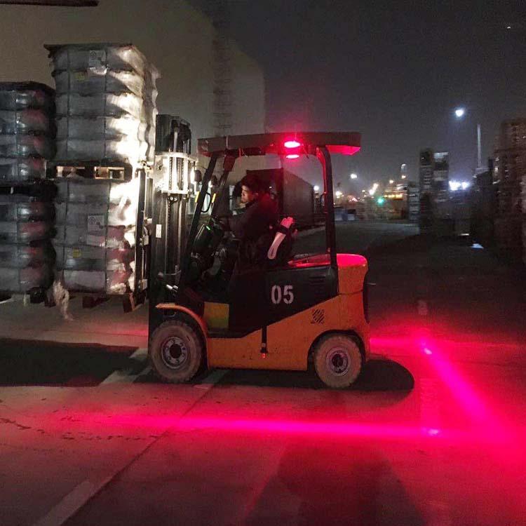 2 Pcs 30w Led Forklift Truck Red Line Warning Lamp Safety