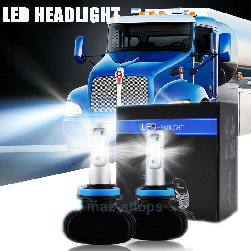 details about low beam h11 led headlight bulbs for kenworth t370 t660 t600 t270 t800 t470 Porsche Wiring Harness