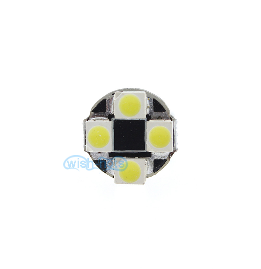 2pcs T10 Xenon White Side Mirror Lights Led Bulbs For