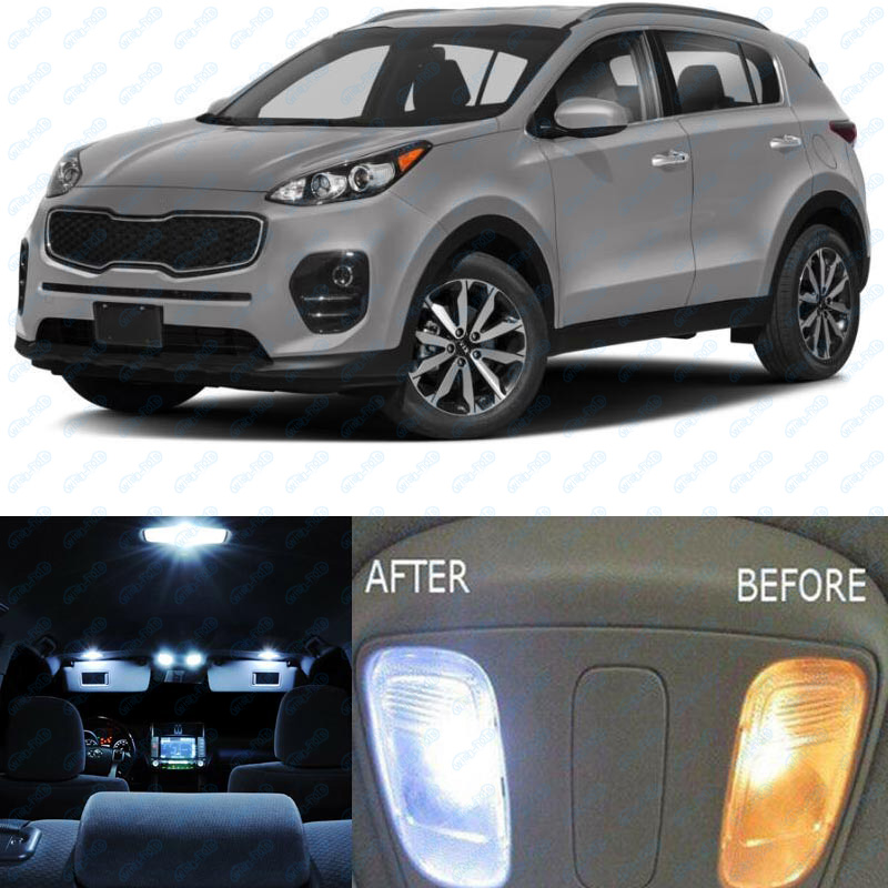 Kia Sportage 2017 Interior >> Details About For 2017 2018 Kia Sportage White Interior Led Lights Accessories Package Kit 7x