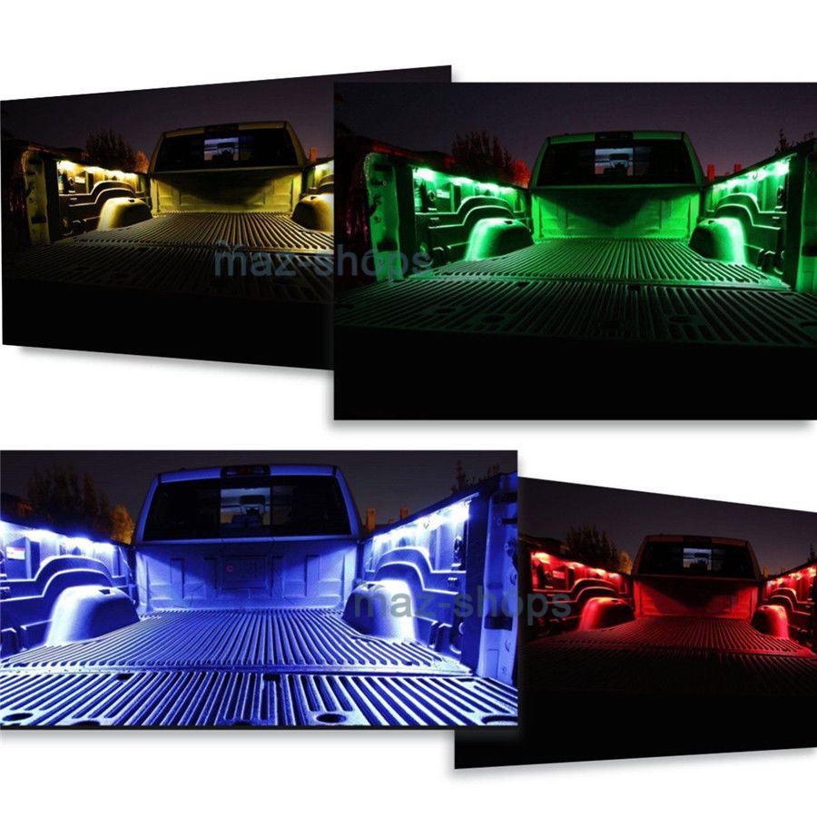 10x Led Rock Lights Under Body Truck Bed Light Rgb Rf