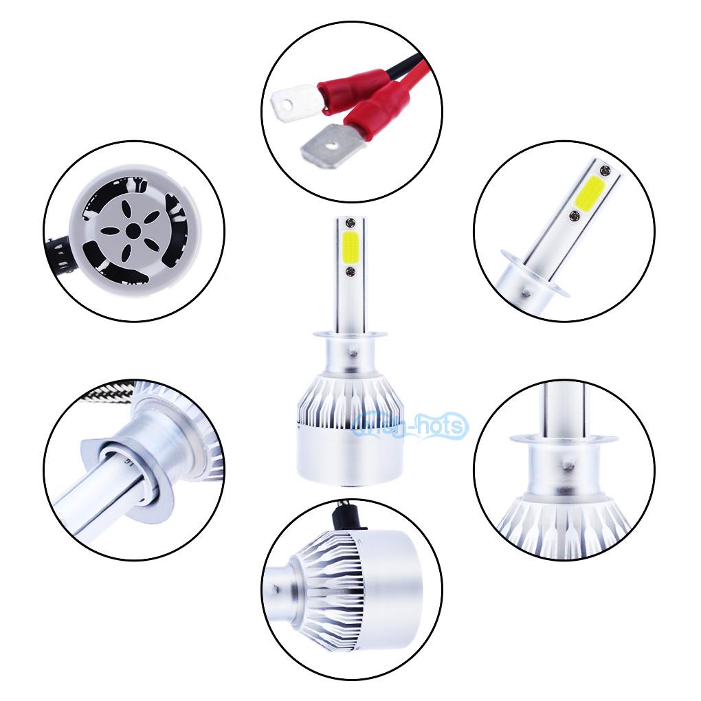Pair H1 LED Fog Light Bulbs for Ford F-150 2000-2003 Explorer 1999-2001 6000K