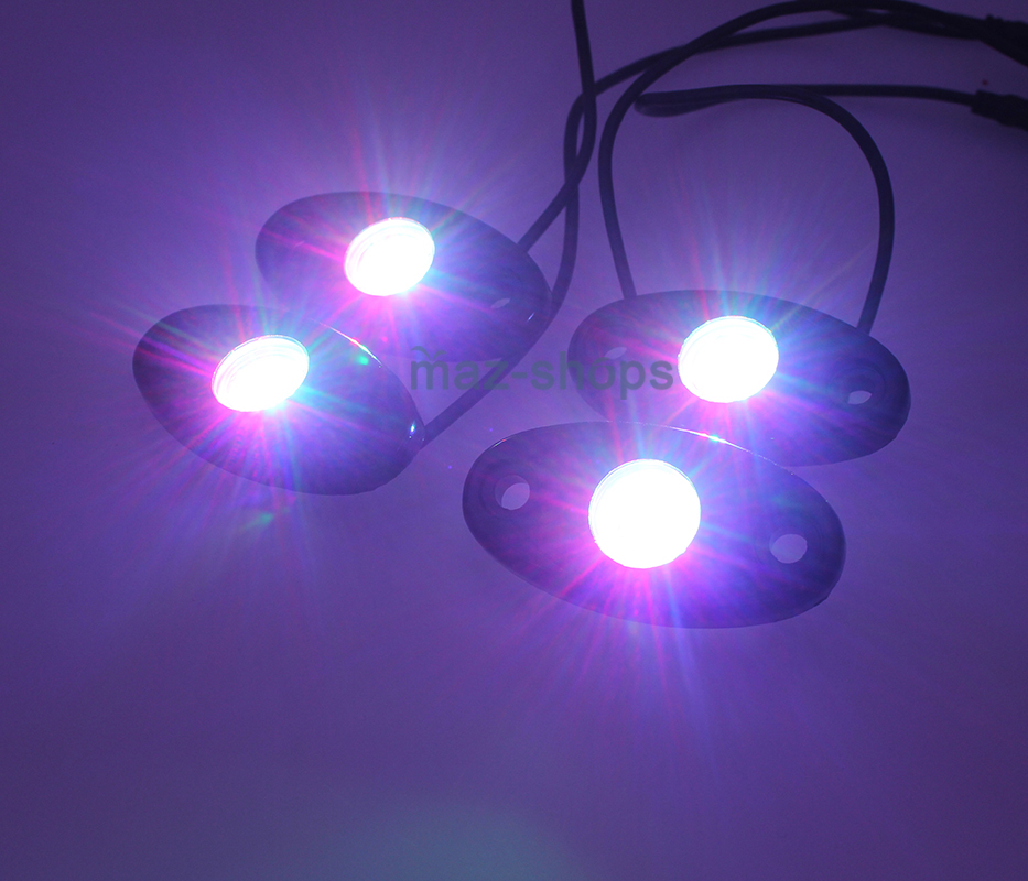 4x 9W Green LED Rock Light Underbody For UTV Can Am Maverick Commander 800 1000