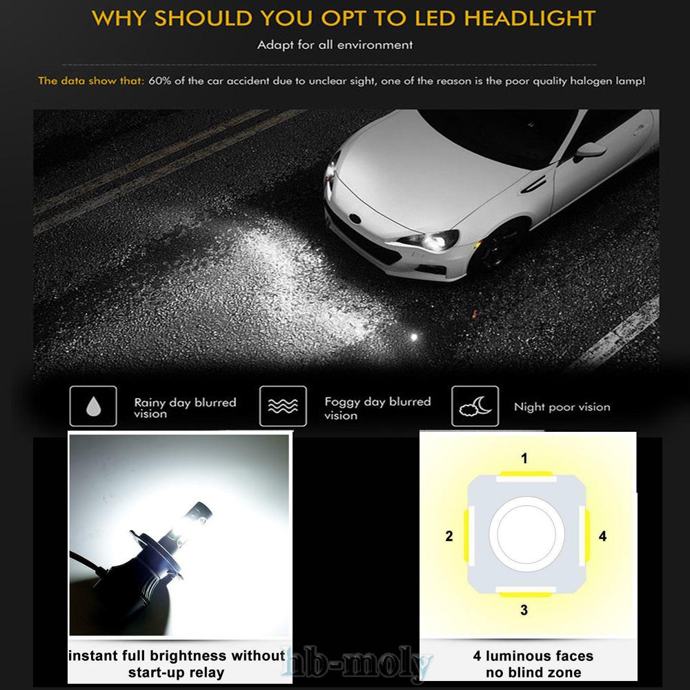 For Audi A4 B7, B8 2005-2012 Low High Fog Xenon Headlight Bulbs H7 H7 H11 Set
