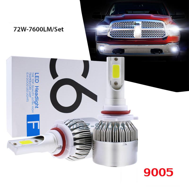 9005 LED Headlight Bulbs Kit High Beam For Acura NSX EL