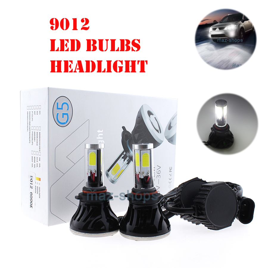 2x 9012 LED Headlight Bulb Conversion Kit for Chrysler 200 300 2011-2015 6000K