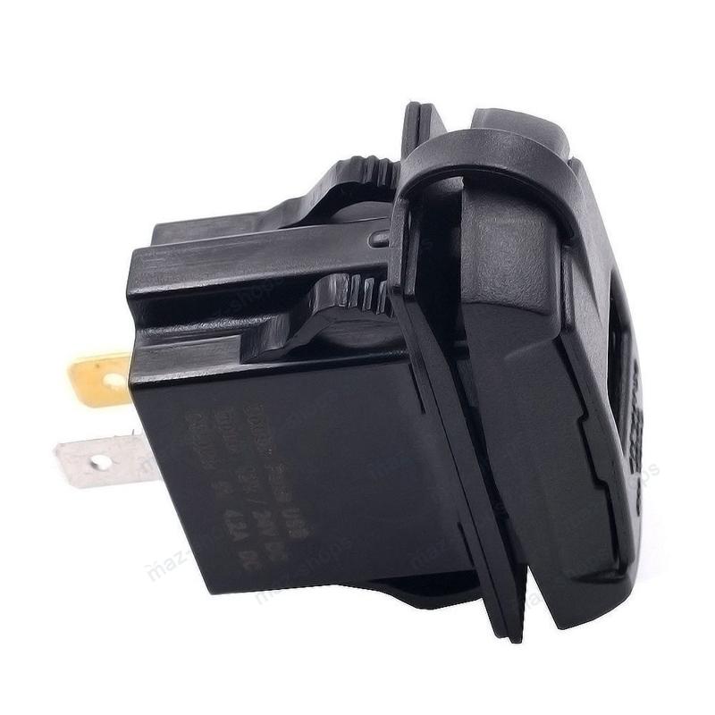 Red Dual USB Charger For Can-am Polaris Honda Kawasaki UTV Voltmeter Waterproof