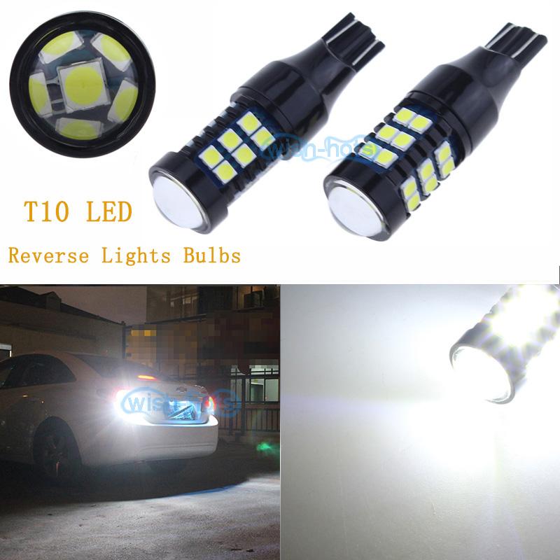 2x Double-sided COB T10 T15 LED 6000K HID White Backup Reverse Lights Bulb