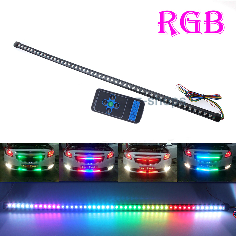 48smd Colorful Rgb Led Knight Rider Strip Light Bar