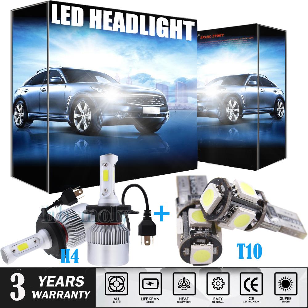 Citroen Relay H7 501 100w Super White Xenon Low//Canbus LED Side Light Bulbs Set