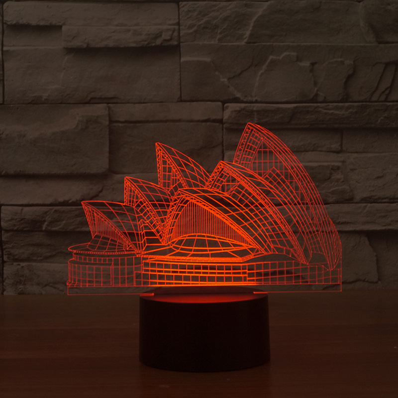 SYDNEY CITY ROOSTERS 3D Acrylic LED 7 Colour Night Light Touch Table Lamp