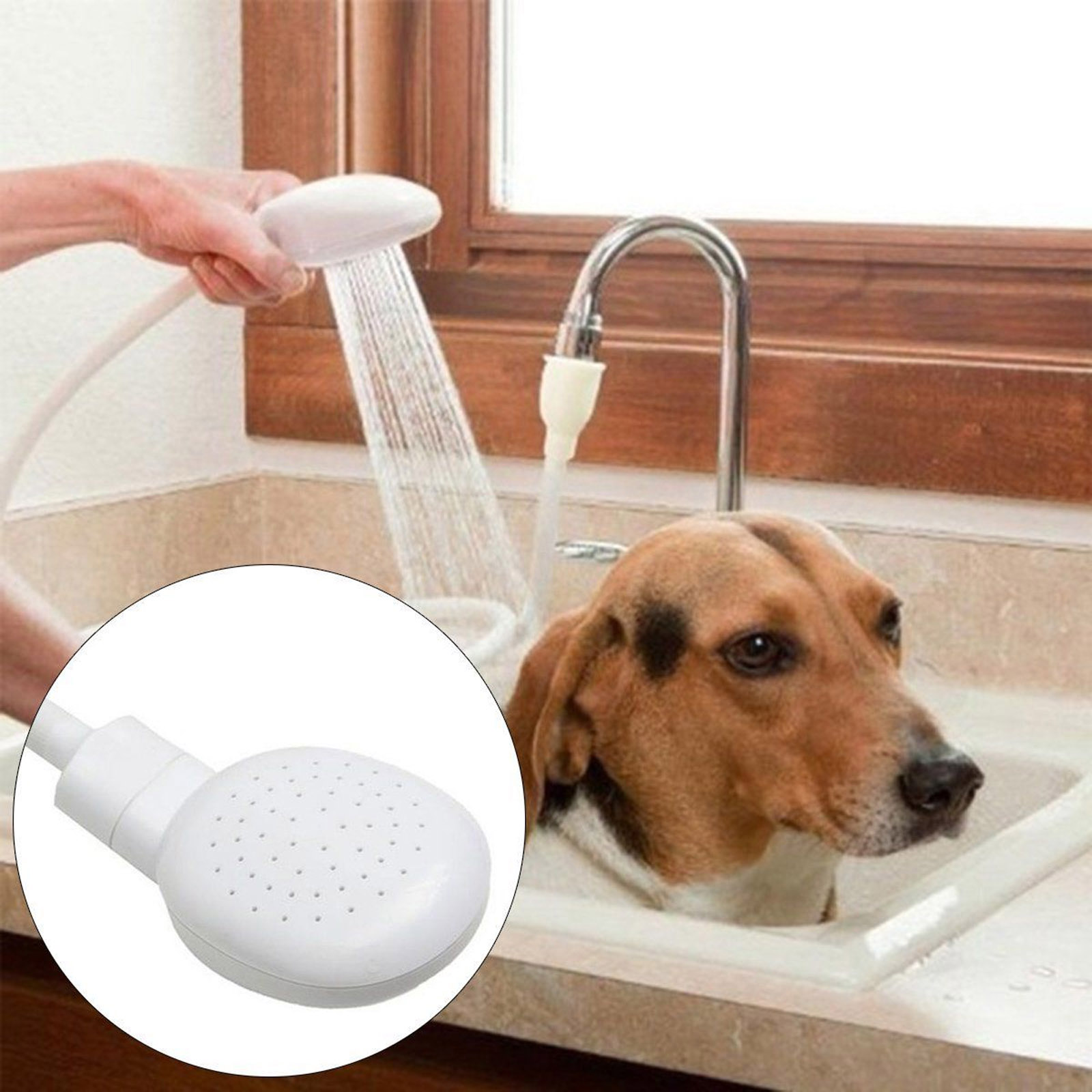 Hair Shower Head Bath Hose Sink Faucet Washing Spray Wash Multi-use ...