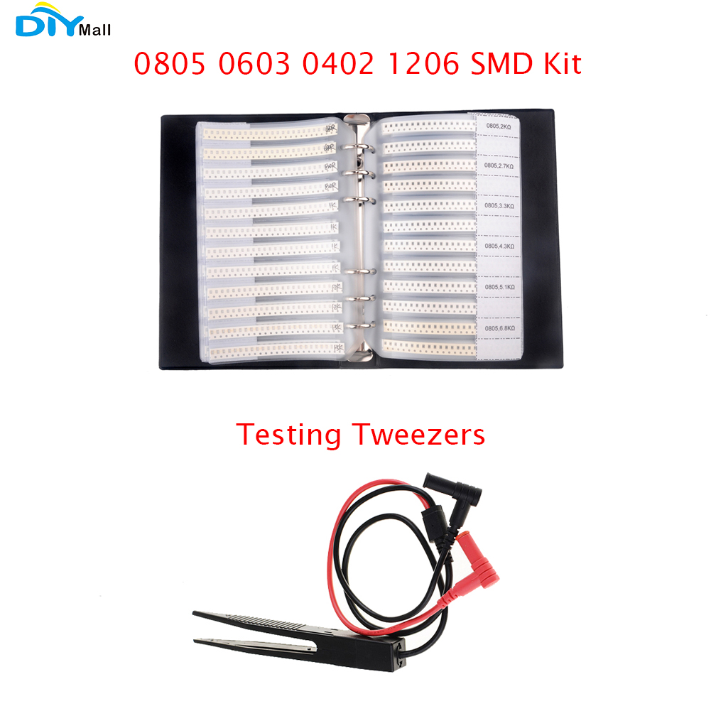 1/% 0805 SMD Resistor Assorted Folder 170value x 50pcs = 8500pcs Sample Book 0 ohm-10M ohm