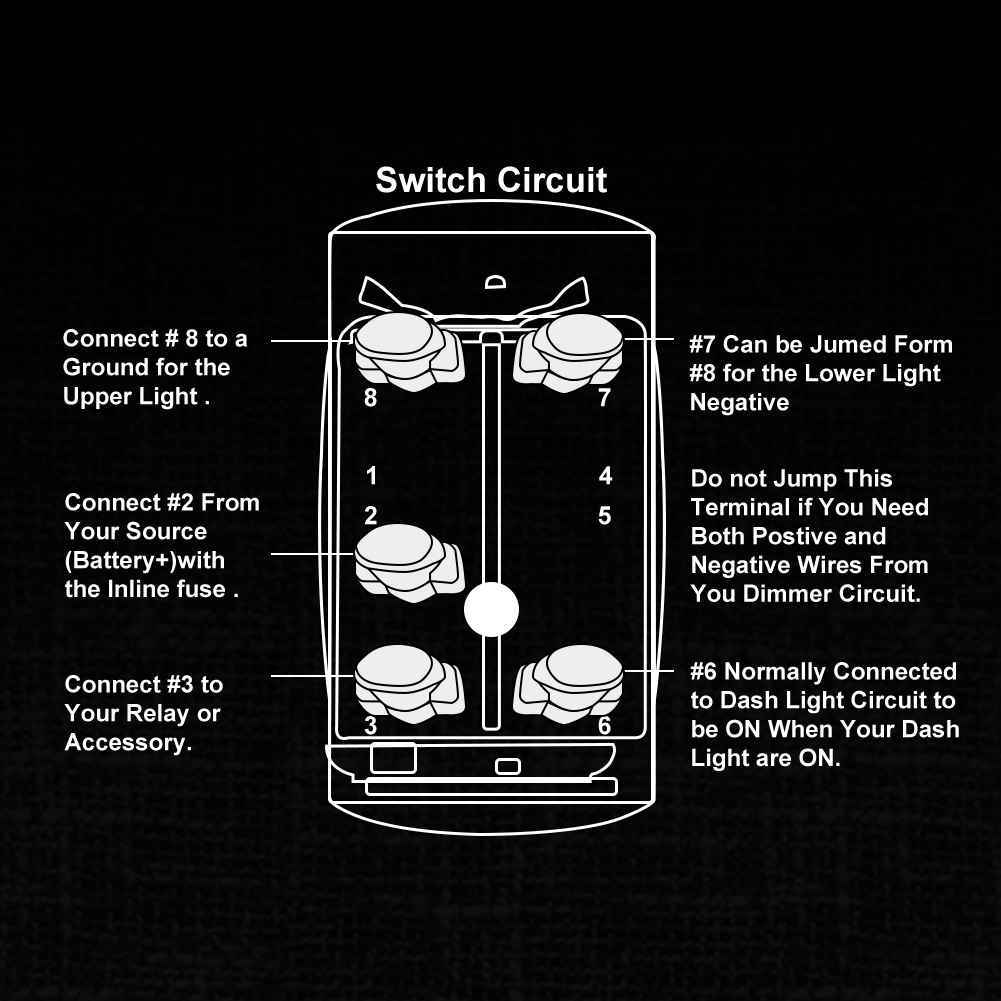 Rocker Switch For Led Light Bar Laser Etched On Off 20a 10a 12v 20v Assist You In Wiring A Single Pole To The New Fieryred 5 Pin Is Spst Designedsingle Throw