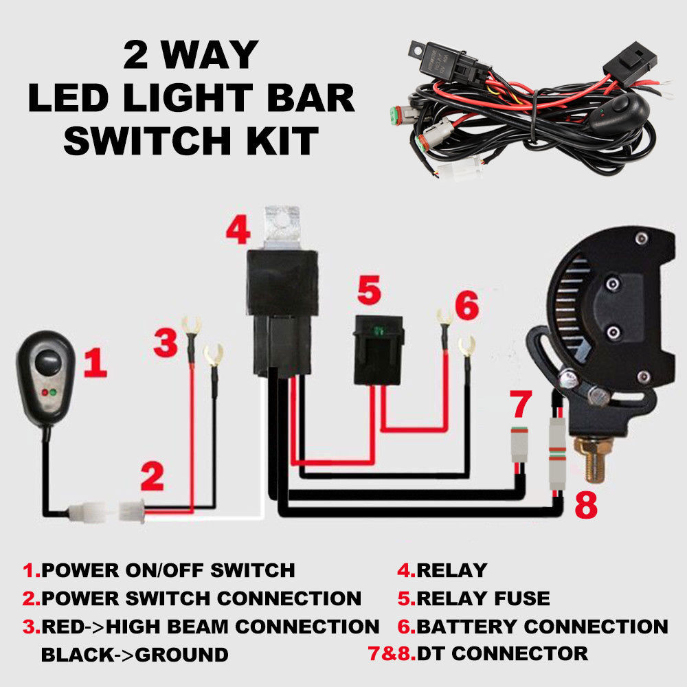 2 Way Wiring Loom Harness 12v  24v 40a Relay Switch Kit