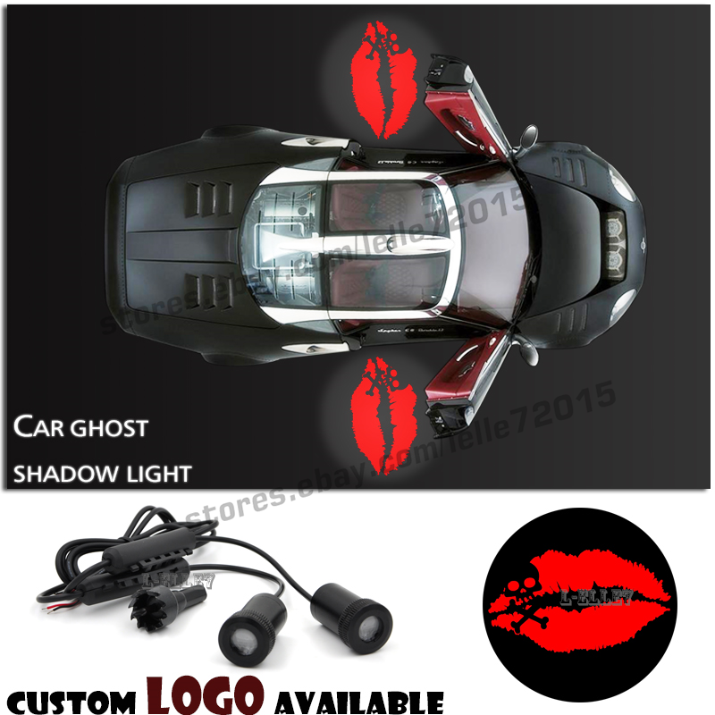 Car Door Welcome Projector Y Skull Lip Monogram Logo Laser Ghost Shadow Light