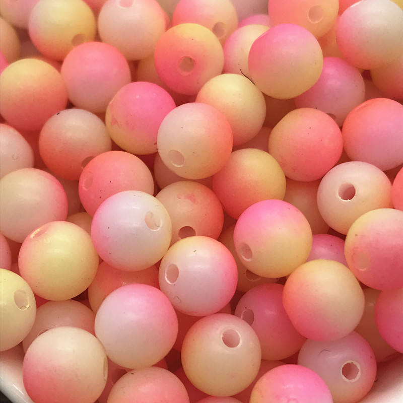 5 mm 100pcs Rond Perle Mat Multicolore Loose Beads Spacer Jewelry Making #05