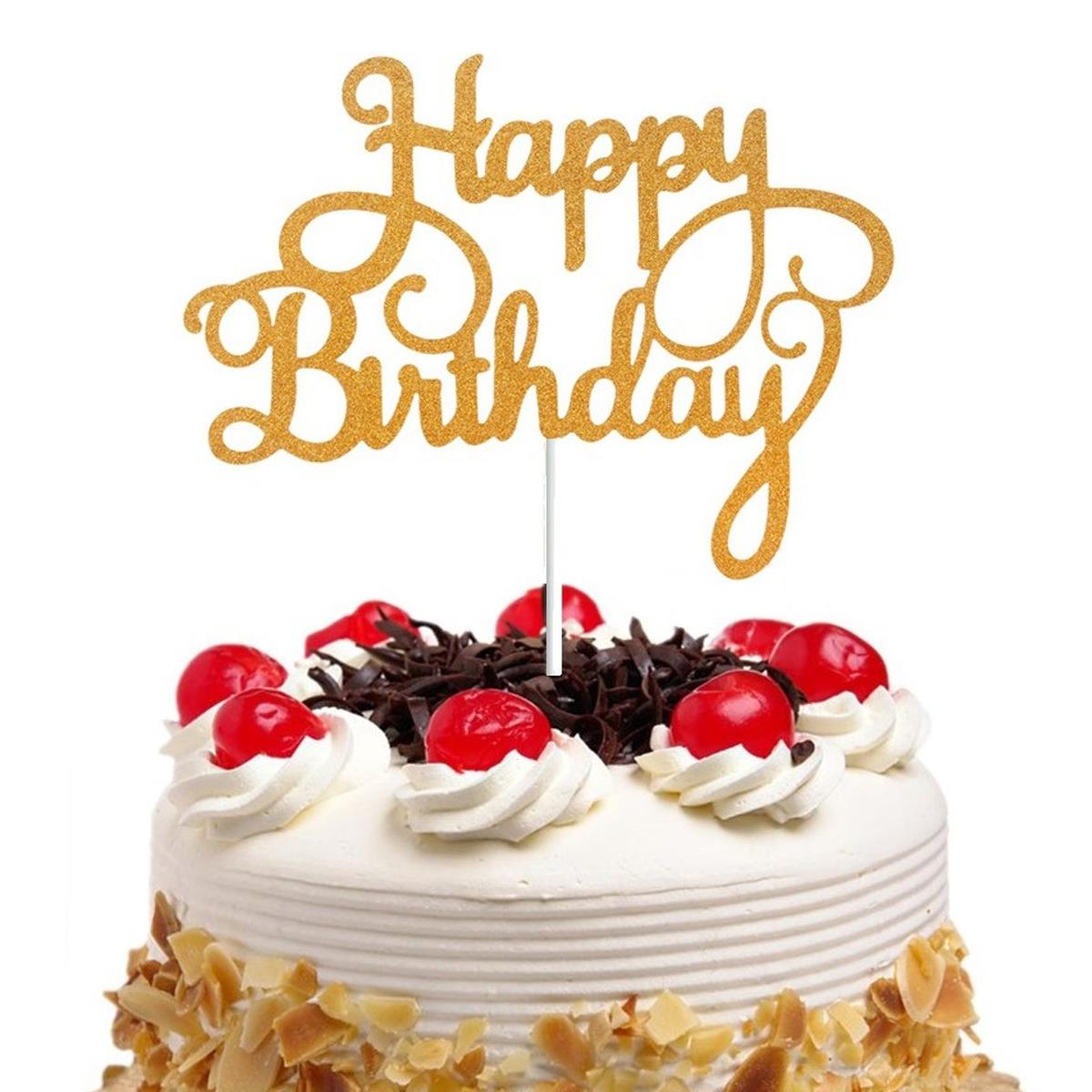 Sensational 15Pcs Shining Happy Birthday Cake Topper Paper Decor Party Funny Birthday Cards Online Alyptdamsfinfo