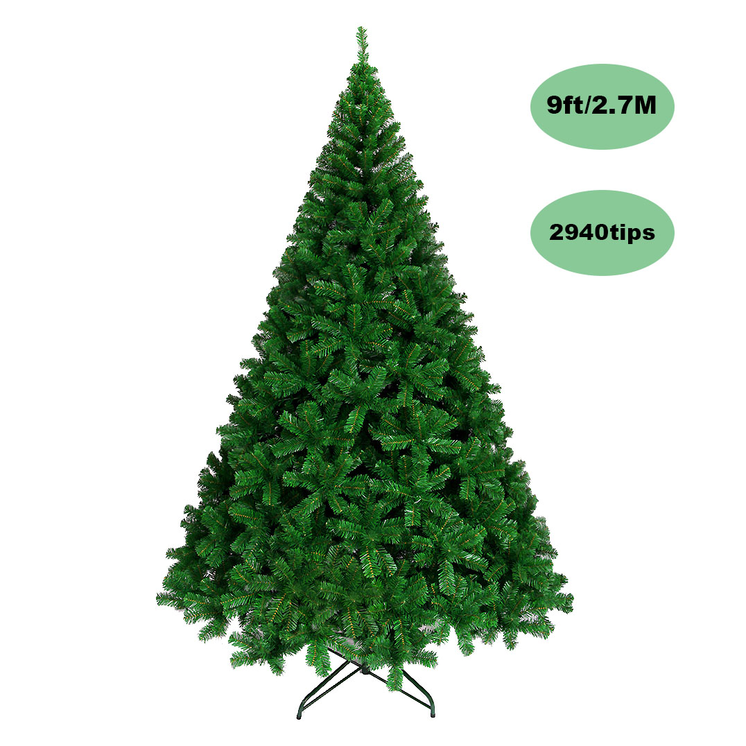 9ft Christmas Tree.2 7m 9ft Green Christmas Tree 2940 Pvc Tips Xmas Ornament