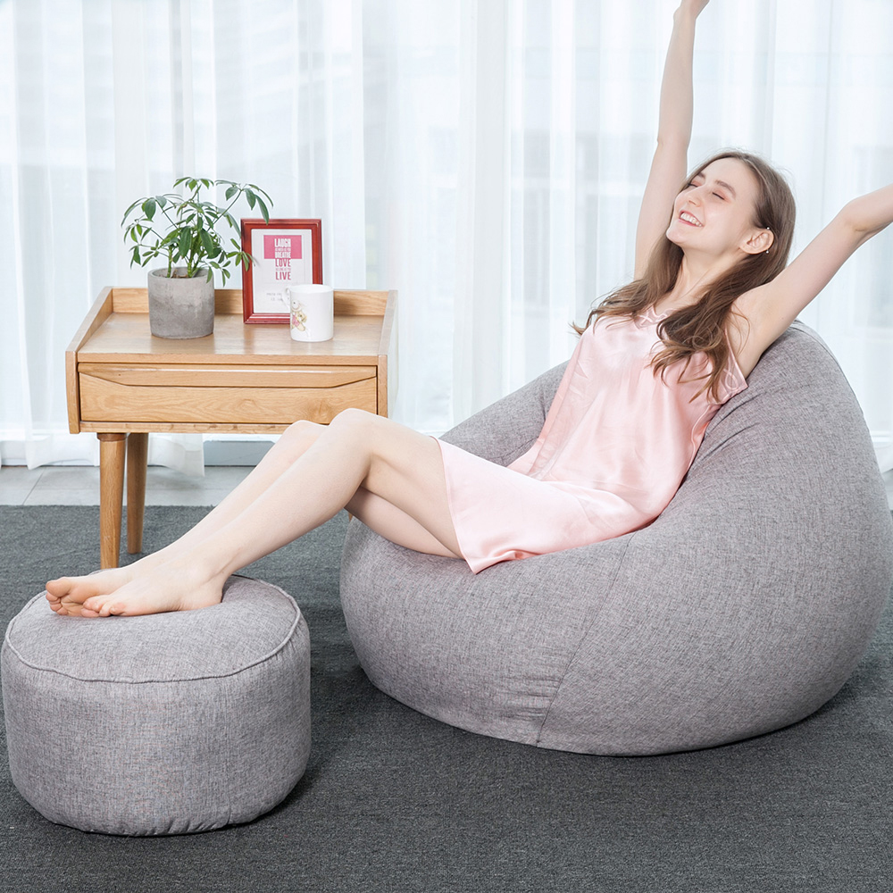 Modern Soft Bean Bag Chairs For Adults Couch Sofa Cover
