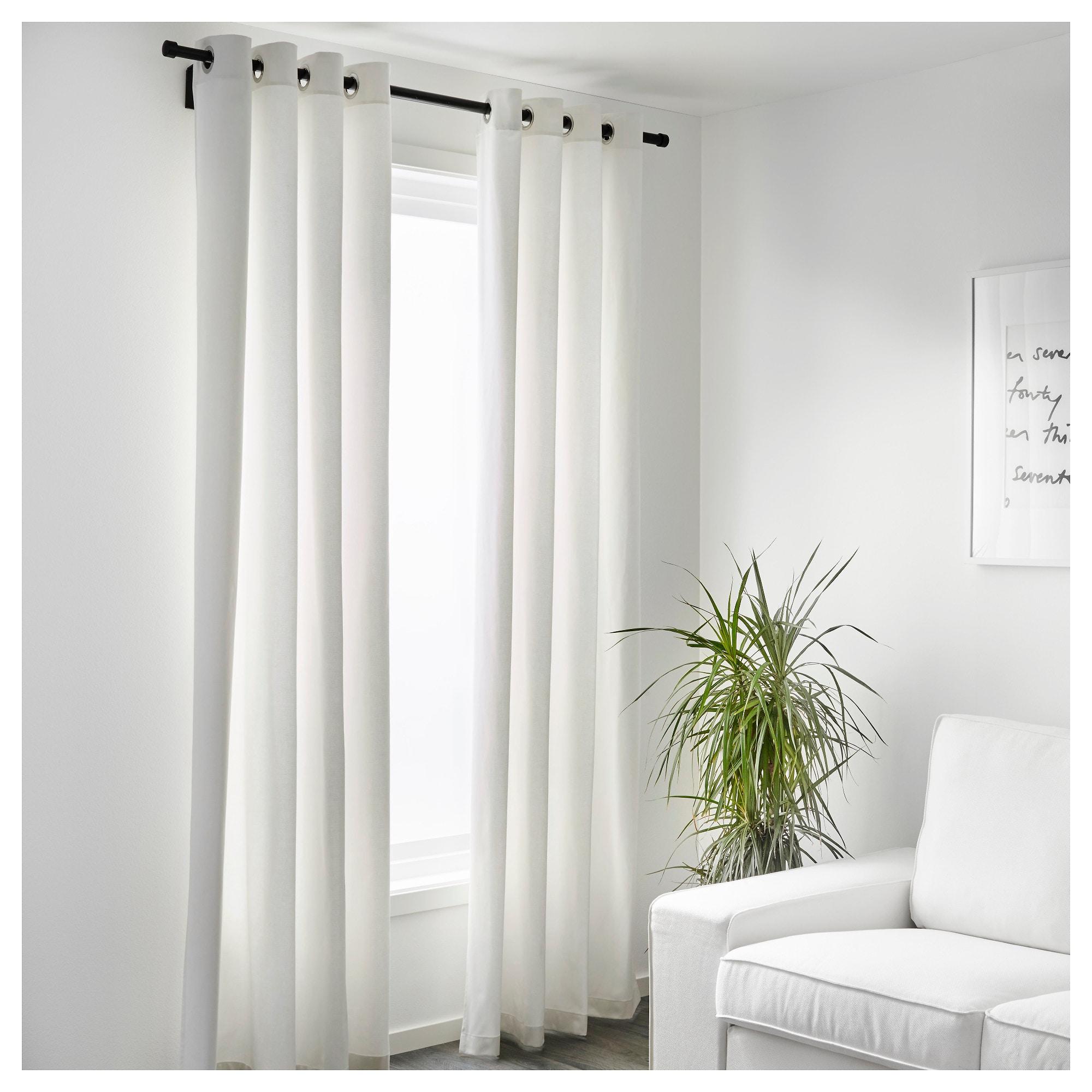 1 Pair Ikea Eyelet Curtains Bedroom