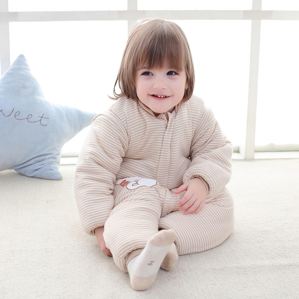 Baby Cotton Sleeping Bag Kids Toddler Winter Warm Pajamas