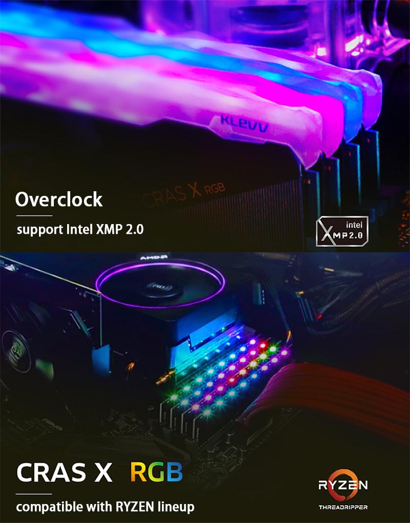 Details about KLEVV CRAS X RGB 16GB 8GBx2 DDR4 C16 3200MHz PC Desktop  Memory RAM Kit 1 35V XMP