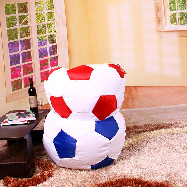 Pu Leather Football Soccer Ball Bean Bag Chairs Cover