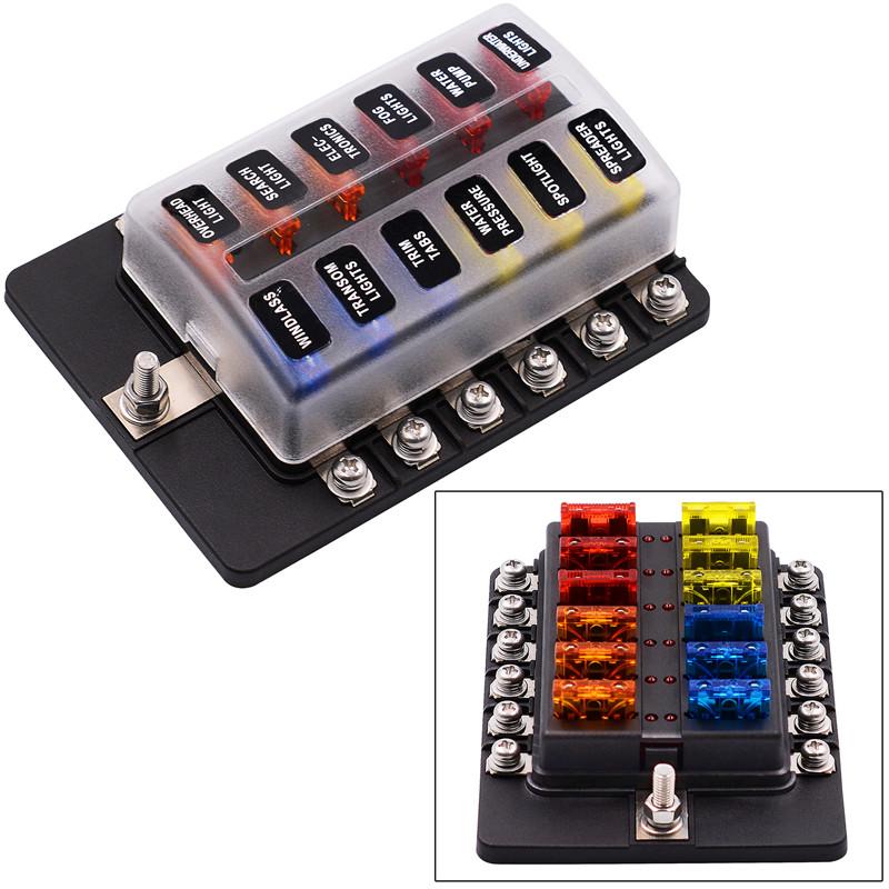 12 way terminals circuit car boat bus atc ato blade fuse box block rh ebay com