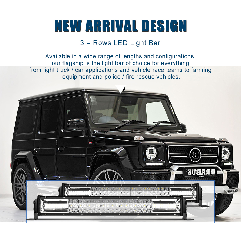 Car 22 Inch 1080w Led Work Light Bar Cree Roof For Jeep Off Road Mercedes Wiring Harness Kits Attention This Listing Is Not Including The Kit If You Want To Achieve 4 Lighting Mode Pls Use Universal