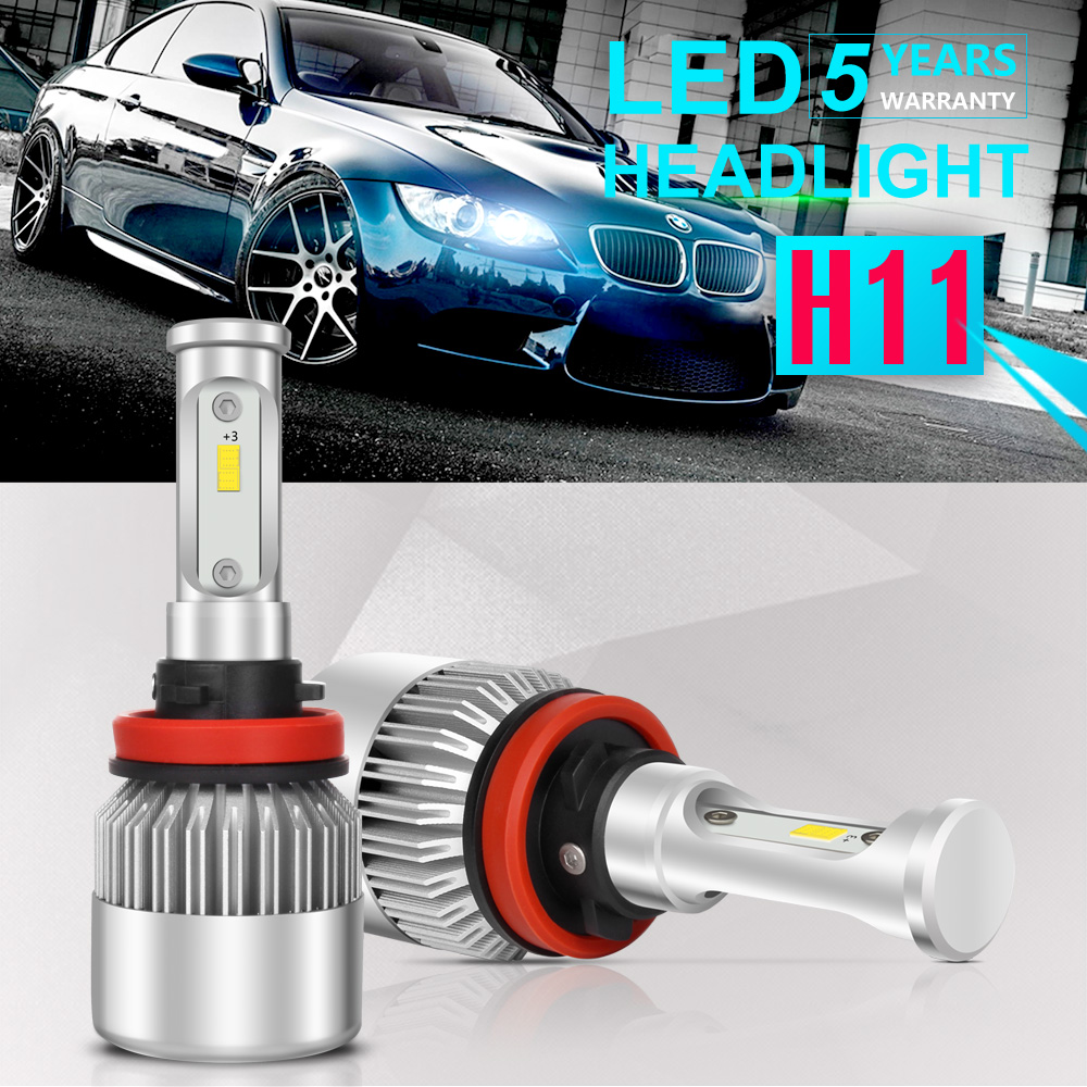 h11 led headlight 6000k 2018 1800w 270000lm fog lights low beam